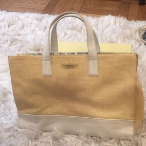 5 for $25!!! DKNY Straw and Canvas Tote